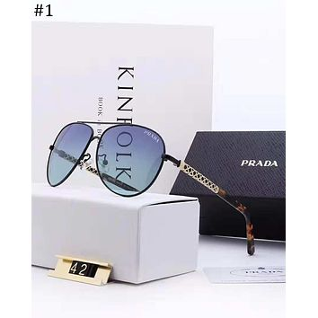 PRADA trend wild men's square polarized Polaroid high-definition lens fashion polarized sunglasses #1