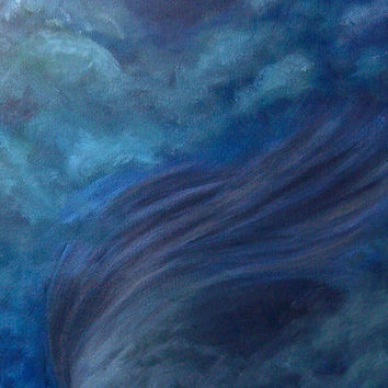 Lady of Nature Tornado Original Oil Painting