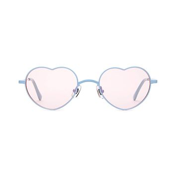 Crap Eyewear - Doctor Love Powder Blue Sunglasses / Pink Lenses