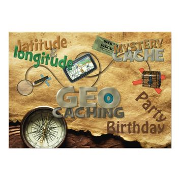 Geocache Party Invitation - Customize