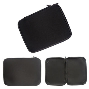 """Neoprene Black 10"""" 12""""13""""14""""15""""17 inch Laptop Sleeve Case Bag Pouch Protector Skin For any notebook and laptop"""
