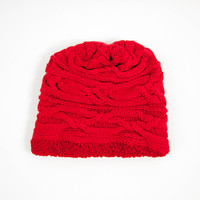 Verloop Mistral Cable Hat Red