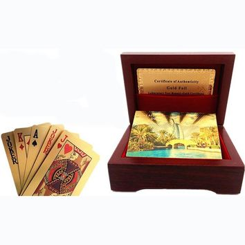 24 Kt Gold/Silver Frosted Waterproof Poker Playing Cards
