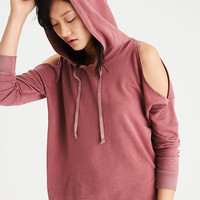 AEO Soft & Sexy Cold Shoulder Hoodie, Pink