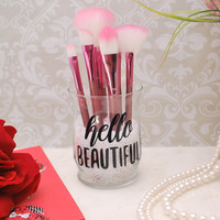 Makeup Organizer, Makeup Brush Holder, Brush Holder, Desk Organizer, Pen Holder, Pencil Holder - Hello Beautiful