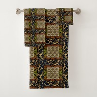 Vintage, African Royalty Abstract Design Bath Towel Set