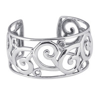Sterling Silver Filigree Cuff Bracelet Custom Made in the USA