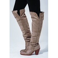 Take You Out Boots: Taupe