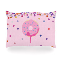 "KESS Original ""Sprinkles"" Pink Food Oblong Pillow"