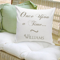 16x16 Throw Pillow Family - Once Upon a Time