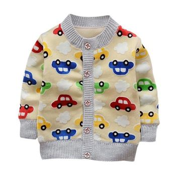 Free Shipping Cardigan Baby Jacket For Girls Boys Children Coats Child Long Sleeve Knitted Autumn Cotton Cardigan cocuk mont