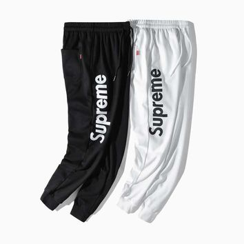Supreme trend nine pants tide brand casual men's wild overalls