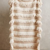 Moroccan Wedding Throw by Anthropologie in Neutral Size: One Size Throws