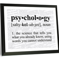Psychology Definition Funny Typography Wall Plaque
