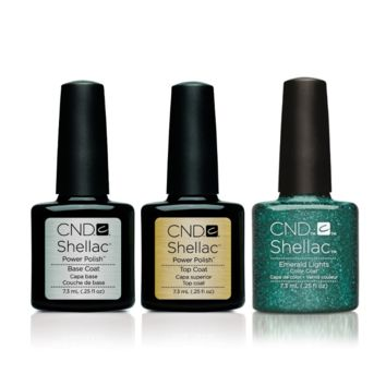 CND - Shellac Combo - Base, Top & Emerald Lights