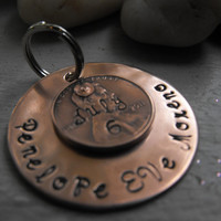 Penny Ornament or dog tag  1.38 inches big
