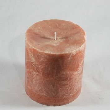 "Dripless 3"" Circle Palm wax Candle"