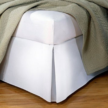 Levinsohn Tailored Poplin Bedding Bed Skirt Full White