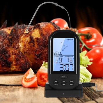 Handheld Digital Wireless Remote BBQ Kitchen Oven Grill Thermometer