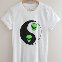 Alien Yin Yang Graphic Top