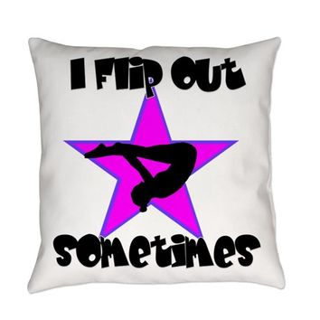 I FLIP OUT GYMNASTICS EVERYDAY PILLOW