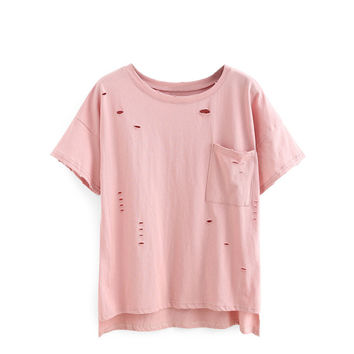 Casual Ripped T-Shirt