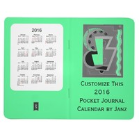 2016 Pale Green Pocket Journal Calendar by Janz