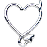 "16 Gauge 3/8"" Steel Devil Heart Closure Daith Cartilage Tragus Earring 
