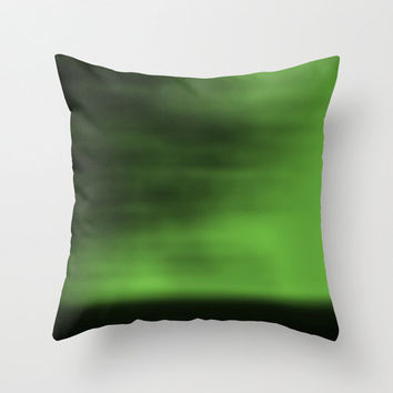 Abstract Pillow Cover, Green Blurred Sky Pillowcase, Nature Pillow, Abstract, Landscape Photography, Minimalist Photo, Green, Neon, Apple