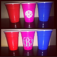 Monogram red solo cup