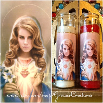 Saint Lana Del Rey Prayer Candle, The Patron Saint of Summertime Sadness