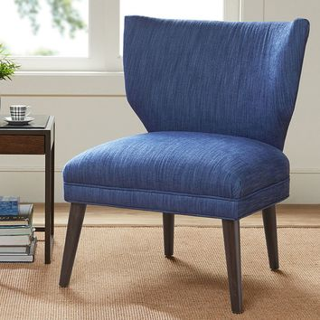 Madison Park Harlyn Armless Retro Wing Chair