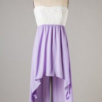 High-low Lavender Tea Dress