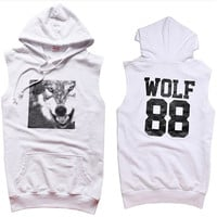 EXO XOXO FIRST YEAR WOLF 88 KRIS LUHAN TAO SLEEVELESS HOODIE SWEATER KPOP NEW