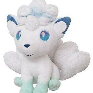 "Sanei Pokemon All Star Collection PP61 Alola Alolan Vulpix 7"" Plush Authentic US"