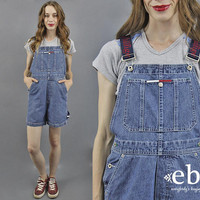 Tommy Overalls Tommy Shortalls 90s Tommy Hilfiger 90s Overalls Denim Overalls Jean Overalls 90s Tommy Jeans Tommy Logo 1990s Overalls XS S