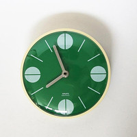 Vintage German Green Wall Clock - Krups 60s 70s