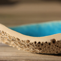 Reef Soap Dish for Kitchen or Bathroom in Tropical Blue