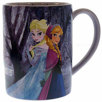 disney authentic parks frozen princess anna queen elsa olaf coffee mug rare new