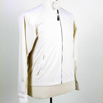 Vintage London Fog Jacket, Men's Jacket, Wind Breaker, White Jacket, Preppy Jacket, Traditional Jacket, Size 36 Regular