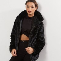 Tall Faux Fur Bomber Jacket