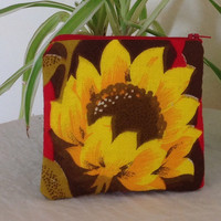 Sunflower Cotton Purse