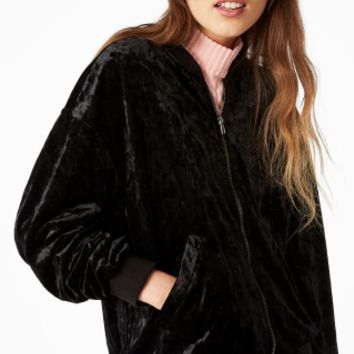 Monki | View all sale | Velvet bomber jacket