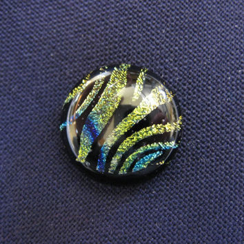 Dichroic Glass Tie Tack Dichroic Scarf Pin Animal by mysassyglass