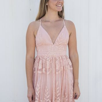 Khloe Lace Maxi Dress, Blush