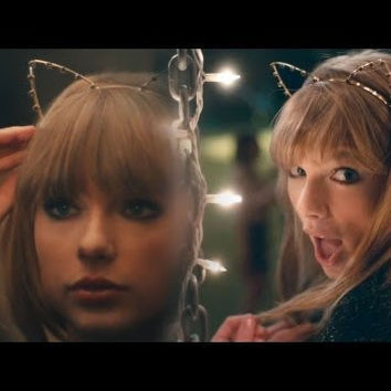 Taylor Swift, Inspired Silver Cat Ear Headband with Rhinestones