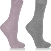 Falke - Cosy set of two stretch-knit socks