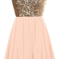 Glitter Fever Dress | Gold Blush Pink Sequin Party Dresses | Rickety Rack