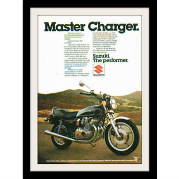 "1979 SUZUKI Motorcycle Ad ""Master Charger"" Vintage Advertisement Print"