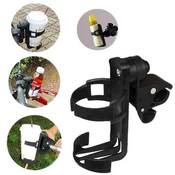 Universal Rotatable Baby Stroller Parent Console Organizer Cup Holder Adult Bicycle Bottle Cup Rack for Buggy Pram Bottle Holder
